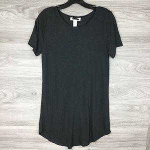 Forever 21 Grey Scoop Neck Short Sleeve Tee Shirt